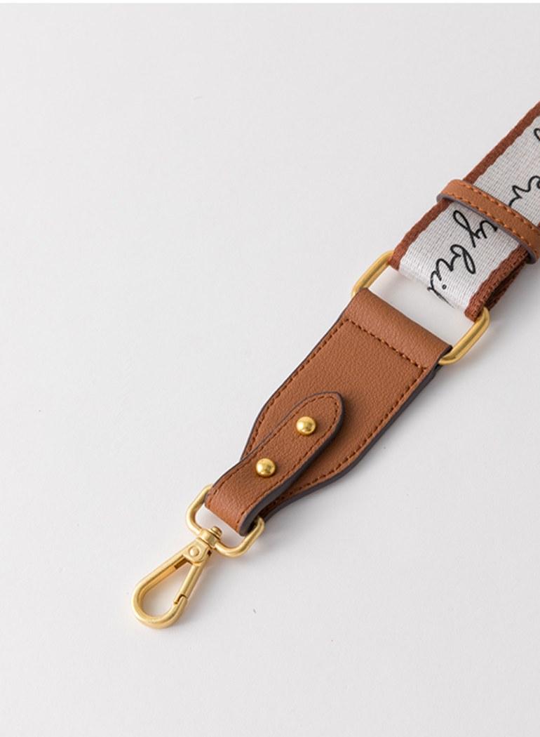 (湊免運)真皮品牌字母調整型背帶