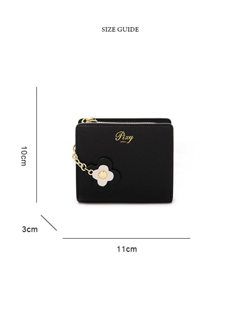 花的獨白真皮零錢包短夾